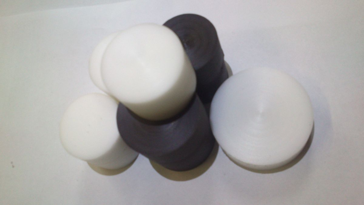 PA6, PA6G, APA, silon, PTFE silonové tyče a desky TEFLON PTFE TYČE KRUHOVÉ v délce 1000mm pr. 45 mm provedení barva bílá nebo černá plmont