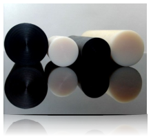 PA6, PA6G, APA, silon, PTFE silonové tyče a desky alkalický polyamid silon PA6 G Tyče průměr 45 mm plmont