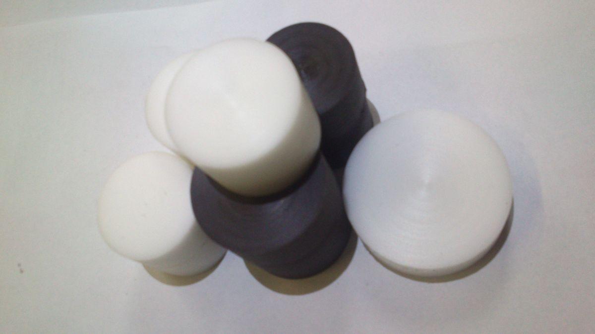 PA6, PA6G, APA, silon, PTFE silonové tyče a desky TEFLON PTFE TYČE KRUHOVÉ v délce 1000mm pr. 70 mm provedení barva bílá nebo černá plmont
